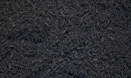 a picture of black mulch