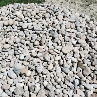 a photo of medium river rock